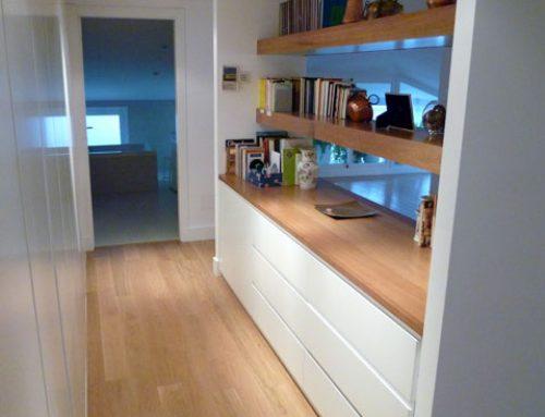 Mueble con cajones para vestidor