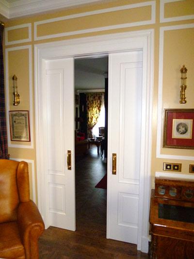 Puerta corredera doble salon