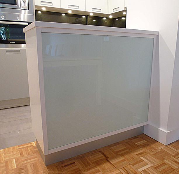 Barra de cocina cristal blanco