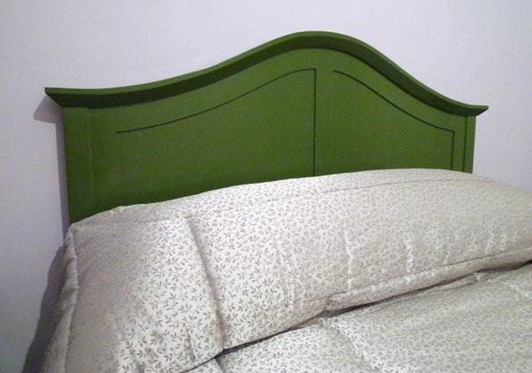 Cabecero de cama verde