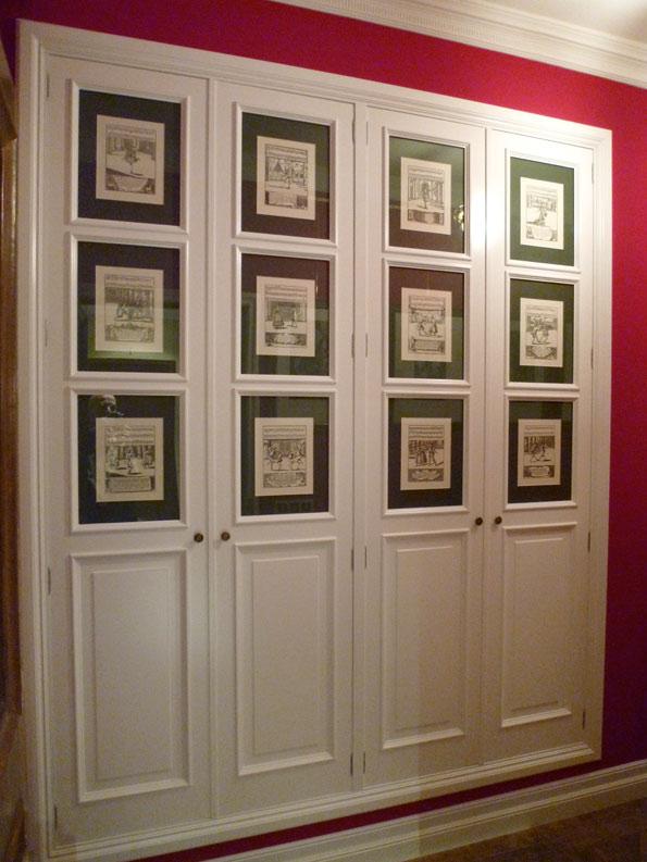 Frente armario lacado con portaláminas
