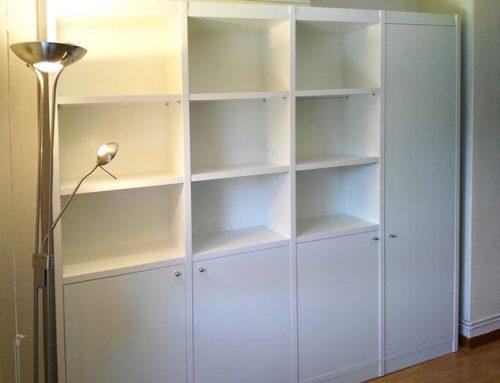 Librería con armario integrado