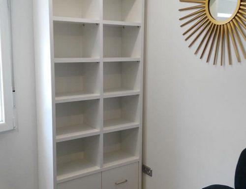 Librería con cajones archivadores
