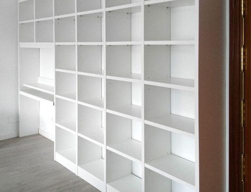 Libreria con escritorio desmontables