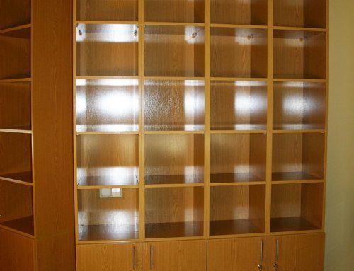 Librería estantería en roble plastificado