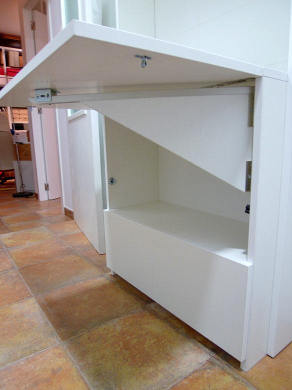 Mueble de cocina con mesa abatible ebanister a mk for Mesa abatible cocina