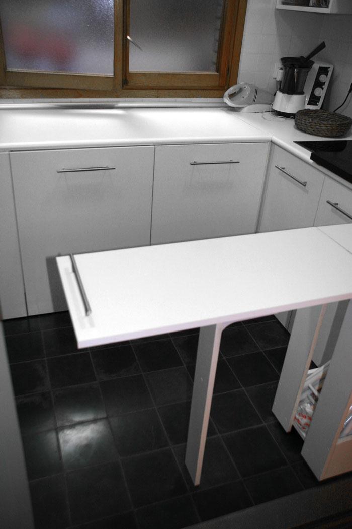 Mesa abatible cocina pequeña