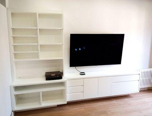 Mueble TV y audio, LP y CDS