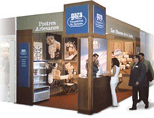 Diseño y realización de stand para feria Expo Gourmet. Cliente: Gaza